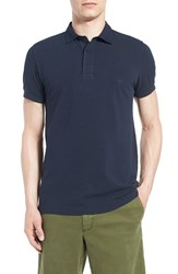 Men's French Connection 'Scattershield' Trim Fit Polo Marine Blue