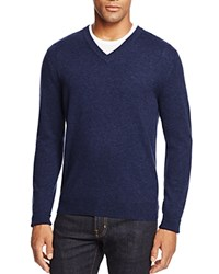 Bloomingdale's The Men's Store At Cashmere V Neck Sweater Bright Blue