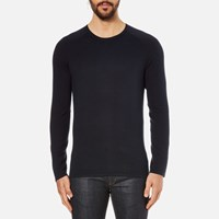 Hugo Men's San Francisco Cotton Silk Cashmere Jumper Navy Blue