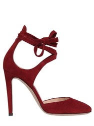 Gianvito Rossi 100Mm Lace Up Suede Pumps