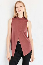 Silence And Noise Mock Neck Fly Away Tank Top Brown