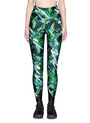We Are Handsome 'The Retrograde' Forest Print Active Leggings Multi Colour