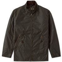 Barbour Elgin Wax Jacket Green