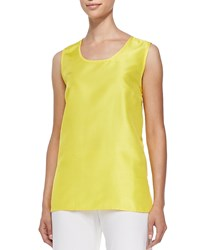 Caroline Rose Shantung Solid Tank Yellow