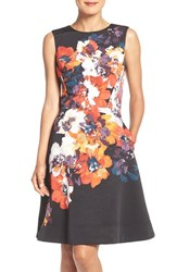 Maggy London Women's Faille Fit And Flare Dress