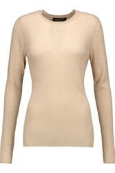 Magaschoni Ribbed Cashmere Sweater Beige