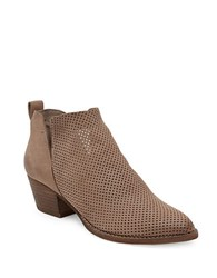 Dolce Vita Sony Perforated Nubuck Booties Taupe