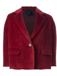 Aspesi One Button Cropped Jacket Red