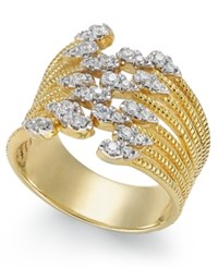 Macy's Diamond Statement Ring 1 3 Ct. T.W. In 14K Gold Yellow Gold