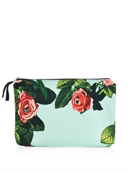 Msgm Rose Print Canvas Pouch