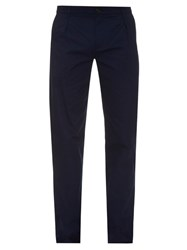 Raf Simons Pleat Front Straight Leg Cotton Trousers
