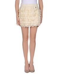 Maison Espin Skirts Mini Skirts Women Beige