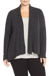 Plus Size Women's Eileen Fisher Shawl Collar Wool Blend Cardigan