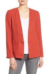 Cupcakes And Cashmere Women's 'Sherlock' Open Front Blazer Burnt Sienna