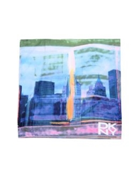 Dkny Square Scarves Sky Blue