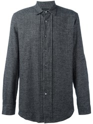 Ann Demeulemeester Grise Checked Shirt Black
