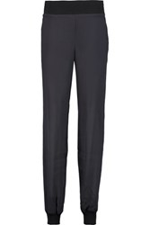 Pringle Of Scotland Tapered Silk Chiffon Pants Charcoal