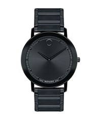 Movado Sapphire Black Pvd Stainless Steel Watch