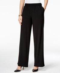 Inc International Concepts Petite Wide Leg Pants Only At Macy's Deep Black