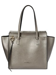 Salvatore Ferragamo Medium Amy Laminated Grained Leather Bag