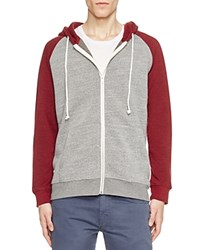 Threads For Thought Fleece Raglan Hoodie Compare At 59 Grey Red