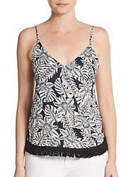 Lucca Couture Paisley Tank Top Beige Navy