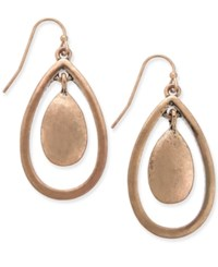 Styleandco. Inc International Concepts Worn Gold Tone Orbital Drop Earrings Only At Macy's