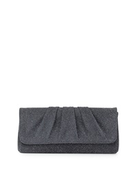 Lauren Merkin Caroline Glass Beaded Clutch Bag Charcoal