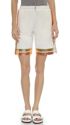 Clover Canyon Denim Shorts White