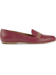 Chloe Chloe Studded Loafers Pink And Purple