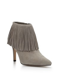 Sam Edelman Kandice Fringed Suede Ankle Booties Grey