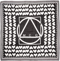 Mcq By Alexander Mcqueen Black And White Heart Scarf