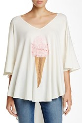 Wildfox Couture Breakfast Tahiti Tunic White
