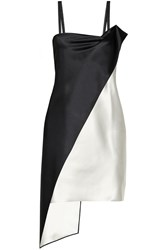 Les Chiffoniers Alesia Double Faced Silk Satin Dress Black