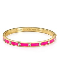Kate Spade New York Stone Hinge Bangle Fluorescent Pink