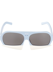 Linda Farrow Contrast Sunglasses Blue