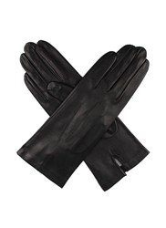 Dents Ladies Silk Lined Leather Gloves Black