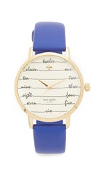 Kate Spade Metro Watch Blue Gold