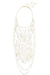 Rosantica Cometa Gold Dipped Bead And Freshwater Pearl Necklace White