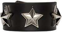 Givenchy Black Studded Leather Bracelet