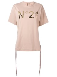 N 21 No21 Logo Print T Shirt Pink Purple