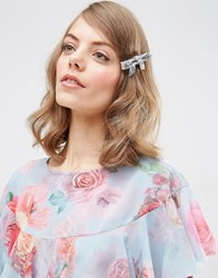 Asos Limited Edition Glitter Bow Silver
