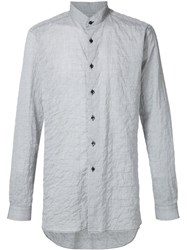 Naked And Famous Naked And Famous Wrinkled Shirt Grey