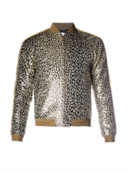 Saint Laurent Animal Jacquard Bomber Jacket