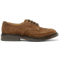 Tricker's Bourton Suede Wingtip Brogues Brown