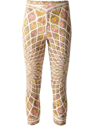 Emilio Pucci Vintage Geometric Print Leggings Nude And Neutrals