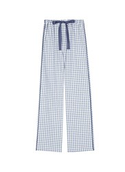 Araks 'Ally' Gingham Check Organic Cotton Pyjama Pants Blue