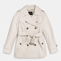 Coach Short Trench Pale Stone