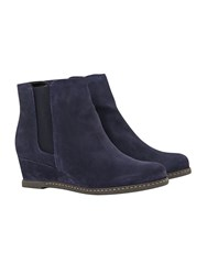 White Stuff Kate Wedge Ankle Boot Navy