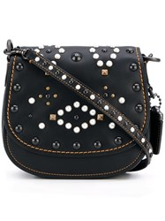 Coach Mini Studded Shoulder Bag Black